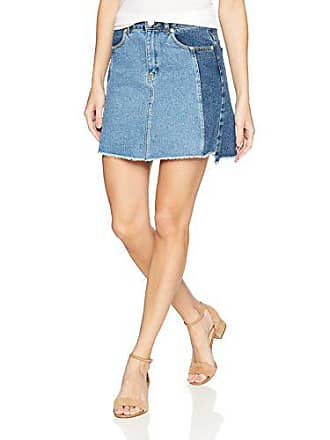 d2fe34076a French Connection Womens Laos Two Tone Denim Jean Mini Skirt