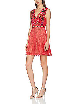 12fc300e77ef8 French Connection Alice Lace S Less V NK Dress, Robe Femme, Rouge (