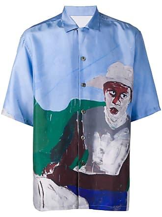 Études Studio Valley Silk Horse shirt - Blue