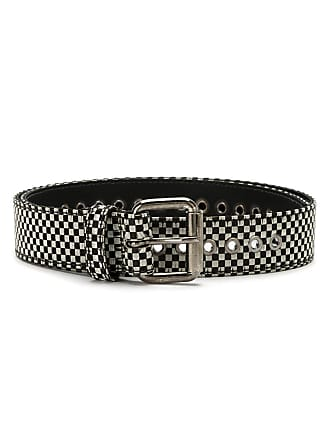 À La Garçonne checked leather belt - Multicolour
