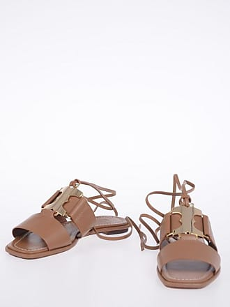 Tory Burch Leather GEMINI LINK Lace Up Sandals size 6,5