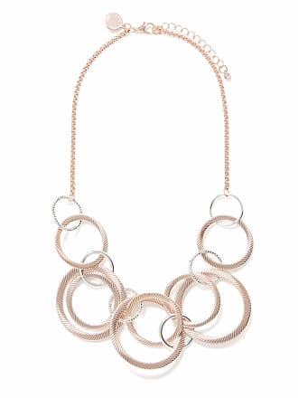 Forever New Poppy Multi Rings Collar Necklace - Rose Gold/Silver - 00