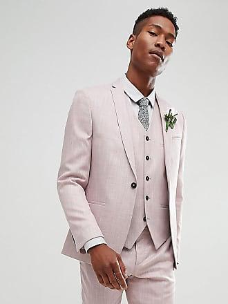 Noak Veste de costume ajustée pour mariage à motif hachuré - Violet ed1a145736c