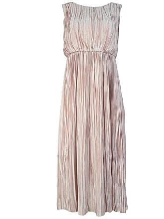 845578e37ea Gucci Blush Baby Pink Silk Pleated Sleeveless Dress Sz 38