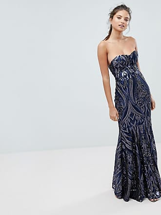 928ad5626651 Club L Club L Embellished Sequin Strapless Fishtail Maxi Dress - Navy