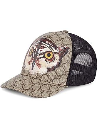 Gucci Owl print GG Supreme baseball hat - Neutrals 5ea5a51b2c2