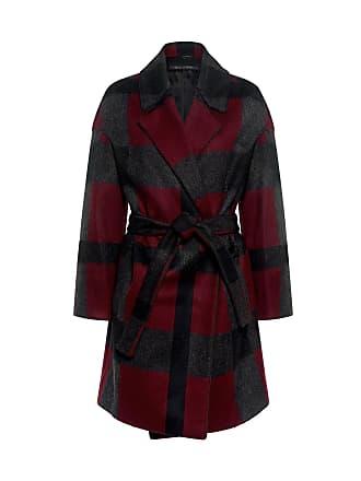 Mother Of Pearl Morgan Plaid Wrap Coat Burgundy