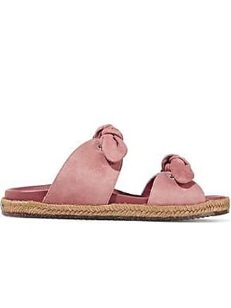 c6cd7ed4e Jimmy Choo London Jimmy Choo Woman Nixon Knotted Suede Slides Antique Rose  Size 38