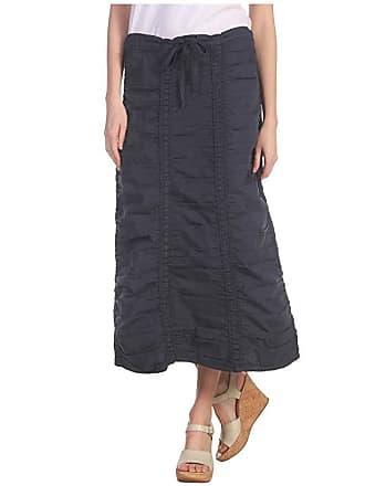 Xcvi Stretch Poplin Double Shirred Panel Skirt (Anchor Navy) Womens Skirt