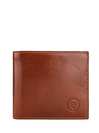 Maxwell Scott Maxwell Scott - Luxury Mens Leather Wallet with Coin Pocket in Tan