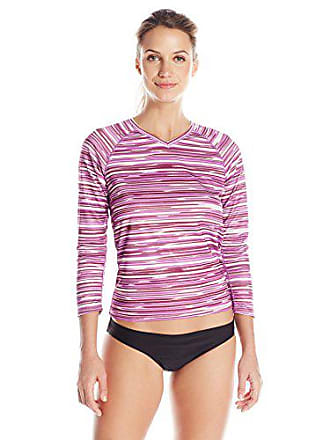 Kanu Surf Womens UPF 50+ Long Sleeve Active Swim Tee & Workout Top, Odyssey Purple, Large