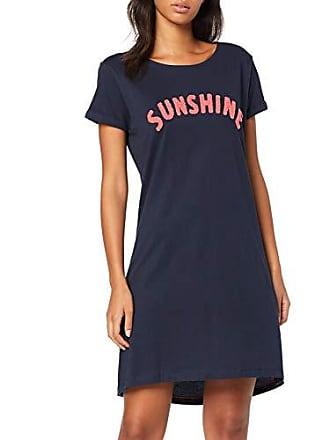 343c8cfdd06cdf Esprit Damen Alice CAS NW Nightshirt Nachthemd, Blau (Navy 400),  (Herstellergröße