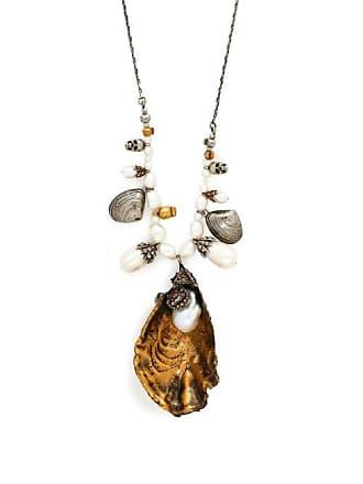 Alexander McQueen Alexander Mcqueen - Oyster Baroque Pearl Necklace - Womens - Gold