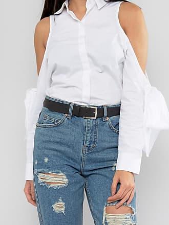 d8e7e0bb39b Asos leather silver buckle waist and hip jeans belt - Black