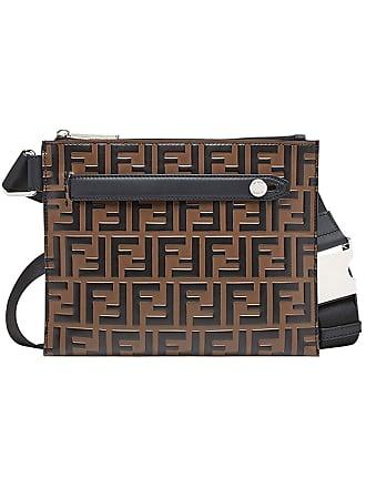Fendi sac porté épaule à motif monogrammé - Marron 4aaff97bbb8