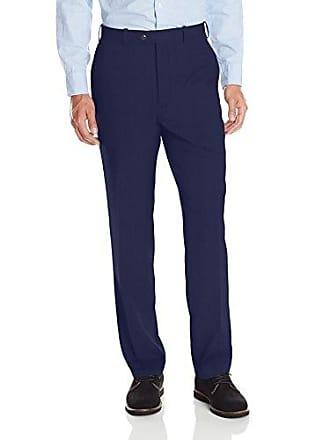 U.S.Polo Association Mens Flat Front Pant, Blue Stripe, 46Wx32L
