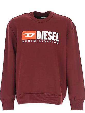 Diesel Sweatshirt für Herren, Kapuzenpulli, Hoodie, Sweats Günstig im Sale,  Bordeauxrot, b135606704