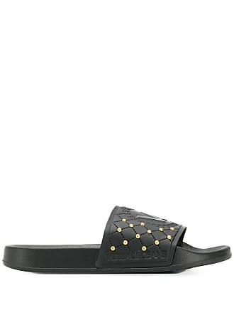 4711b4172a Versace Jeans Couture Slide com logo - Preto