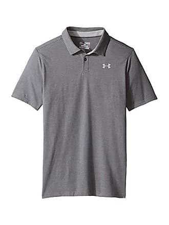 1dd712594cf8 Under Armour Charged Cotton Heather Polo (Big Kids) (Graphite True Gray  Heather