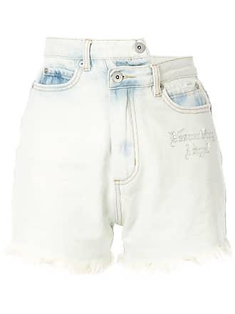 Ground-Zero Descending Angel asymmetric shorts - Azul