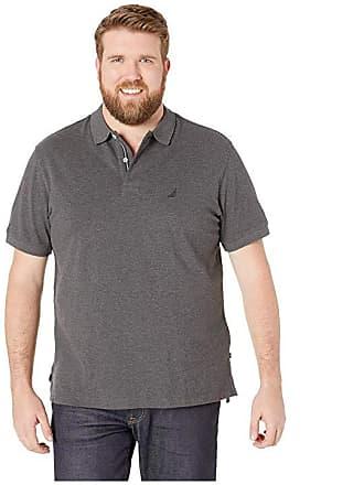 0de1c672e6e Nautica Big   Tall Big Tall Short Sleeve Solid Deck Shirt (Charcoal  Heather) Mens