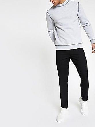 River Island Mens Black Sid skinny jeans