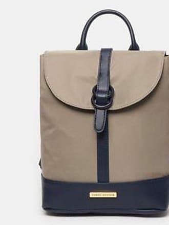 Tommy Hilfiger Backpack con Diseño Satinado<br>27 x 29 x 12.5 cm<br>Taupe y Azul Marino