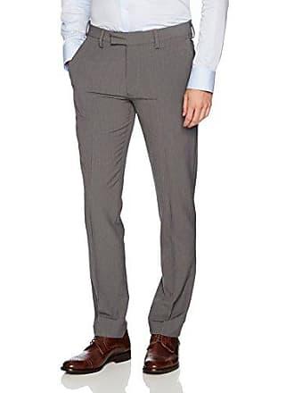 Louis Raphael Mens Slim Fit Comfort Flex Polyester Viscose Stretch Dress Pant, Grey Weave Check, 38W x 34L