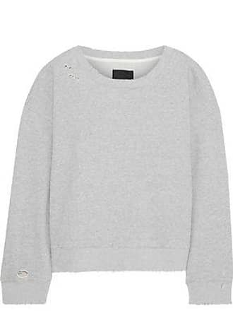 Rta Rta Woman Distressed Mélange French Cotton-terry Sweatshirt Gray Size XXS