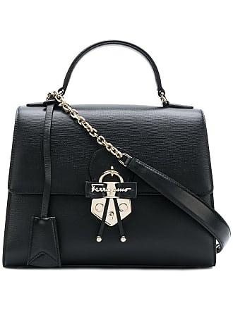 fb7411ae4704 Salvatore Ferragamo Gancio embellished top handle bag - Black