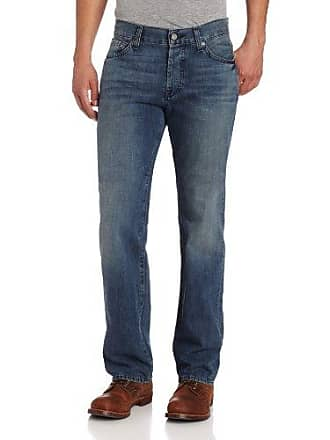 7 For All Mankind Mens Standard Straight-Leg Jean in Winds Blue, Winds Blue, 32x34