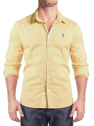 Sergio K. Camisa Xadrez Vichy Stretch Amarelo