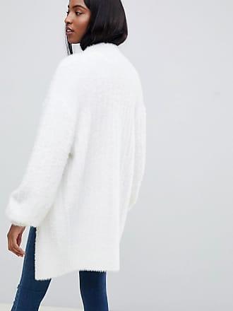 c3b506ccae6 Asos Tall ASOS DESIGN Tall cardigan in fluffy rib - Cream