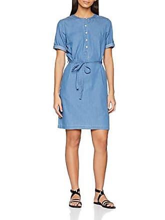 4e3185e2c9 Damart Robe léger, Bleu (Denim Chambray 08185), Taille Fabricant:38 Femme