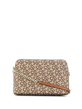 DKNY Bryant logo dome crossbody bag - Neutrals