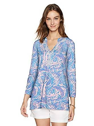bf7359161d8 Lilly Pulitzer Womens Kaia Knit Tunic, Coastal Blue Maybe Gator, S
