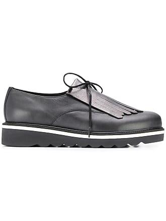 7330c2067d38 Tommy Hilfiger fringed platform shoes - Black