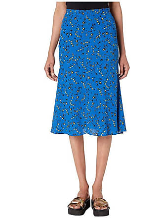 McQ by Alexander McQueen Cut Up Seam Skirt (Skate Blue) Womens Skirt