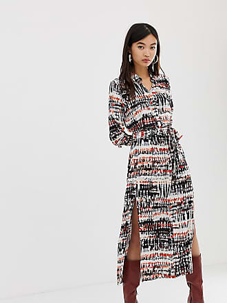 Stradivarius maxi shirt dress in tie dye - Multi