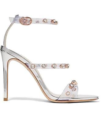 2f1886e0f Sophia Webster Rosalind Crystal-embellished Pvc And Metallic Leather Sandals  - Silver