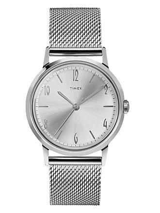Timex Watch Mens Marlin Hand-Wound 34MM Stainless Steel Mesh Band Steel/stainless Steel/silver-Tone Item Tw2T18500Zv