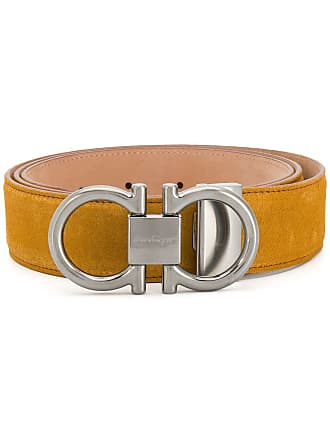 Salvatore Ferragamo adjustable gancini belt - Yellow