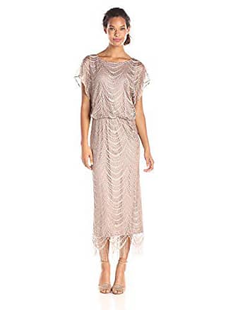 c5045ff2f754 S.L. Fashions Womens Metallic Crochet Dress (Plus Size and Missy), Gold, 10