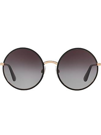 Dolce   Gabbana Eyewear lunettes de soleil à monture ronde - Noir 71b4f49bd45f
