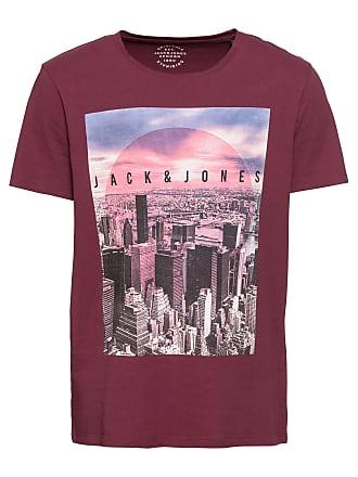 Jack   Jones T-Shirt JORAUTUMN CITY TEE CREW NECK mischfarben   weinrot ba95b18a2b
