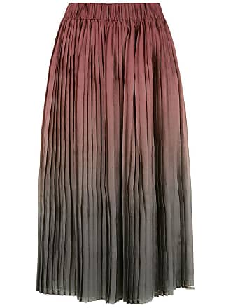 À La Garçonne gradient pleated skirt - Multicolour