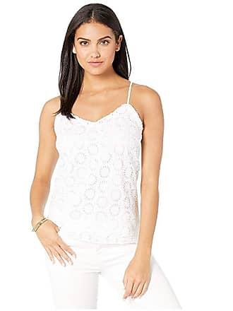 fc600c87a84 Lilly Pulitzer Ruffled Dusk Top (Resort White Sunshine Eyelet) Womens  Clothing