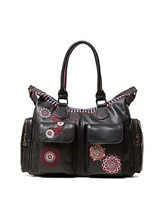 Desigual Bag Chandy London Women, Sacs portés épaule femme, Noir (Negro), dfeae716930