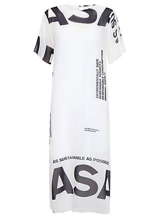 Osklen VESTIDO MAXI T-SHIRT ASAP - OFF WHITE