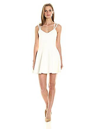 French Connection Womens Whisper Light Sleeveless Strappy Stretch Mini Dress, Summer White, 12